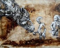 Alice Locoge - Tableaux : Animaux La grande affaire 116x81 cm