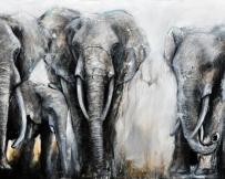 Alice Locoge - Tableaux : Animaux La marche 150x100