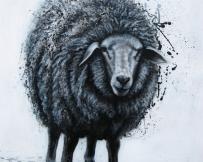 Alice Locoge - Tableaux : Animaux Mouton