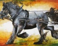 Alice Locoge - Tableaux : Animaux cheval de trait 130x81 cm