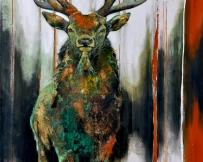 Alice Locoge - Tableaux : Animaux en vert et contre tout 147x97 cm