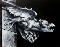 Alice Locoge - Tableaux : Animaux gargouille 60x50 2014