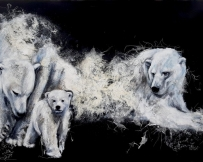 Alice Locoge - Tableaux : Animaux L'initiation 116x80