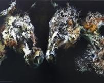 Alice Locoge - Tableaux : Animaux recontre nocturne avec soi meme 100x70 cm