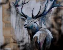Alice Locoge - Tableaux : Animaux sous bois 100x100