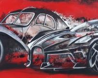 Alice Locoge : Tableaux - Belles Mecaniques Bugatti Rouges