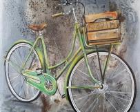 Alice Locoge -Tableaux : Belles Mecaniques Bicyclette 60x60 cm