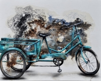 Alice Locoge : Tableaux Belles Mecaniques Velo Pourquoi vouloir toujours plus beau 60x80 2016