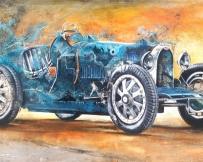 Alice Locoge : Tableaux - Belles Mecaniques Voiture Bugatti T35 97x161 cm