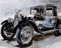 Alice Locoge : Tableaux - Belles Mecaniques Voiture Bugatti T40 89x130