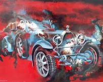 Alice Locoge : Tableaux - Belles Mecaniques Voiture Bugatti T40 89x130 cm