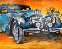 Alice Locoge : Tableaux - Belles Mecaniques Voiture Bugatti T57 114x195