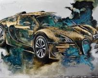 Alice Locoge : Tableaux - Belles Mecaniques Voiture Veyron 113x162 cm