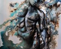 Alice Locoge - Tableaux : Nomades En suspens 80x80 cm