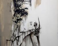 Alice Locoge - Tableaux : Nomades La justice 60x120 cm