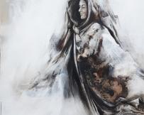Alice Locoge - Tableaux : Nomades La première guerrière 80x80