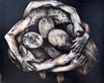 Alice Locoge - Tableaux : Nomades Le bonheur n'est réel que partage 120x100 cm