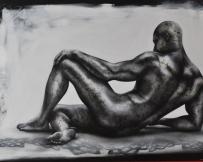 Alice Locoge - Tableaux : Nomades Le repos du guerrier 150x100 cm