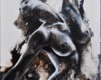 Alice Locoge - Tableaux : Nomades Mal à la tête 60x80