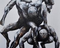 Alice Locoge - Tableaux : Nomades Vivre ou survivre 100x80 cm 2013
