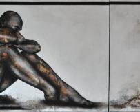 Alice Locoge - Tableaux : Nomades l'existence 70x150