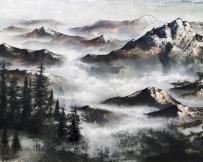 Alice  Locoge - Tableaux : Nature Montagnes Brumeuses